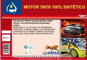 ELESA E100119 - BIDON ACEITE 5W30 100% SINTETICO C3-C2 504-507 205-L